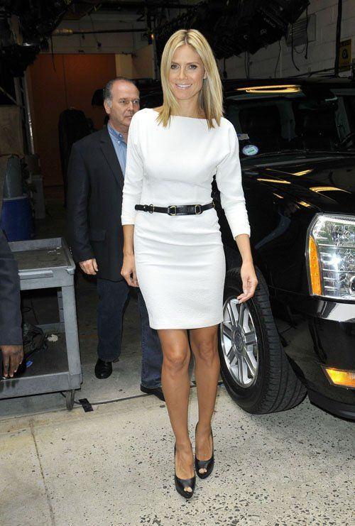 Heidi Klum - black & white.  simple and cool.