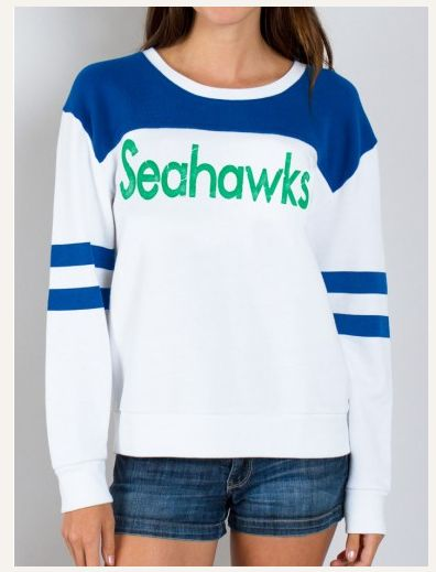 3e3c7dc68 ... Super soft vintage inspired NFL Seattle Seahawks Sweatshirt - Relaxed  fit long sleeve pullover sweatshirt with ...