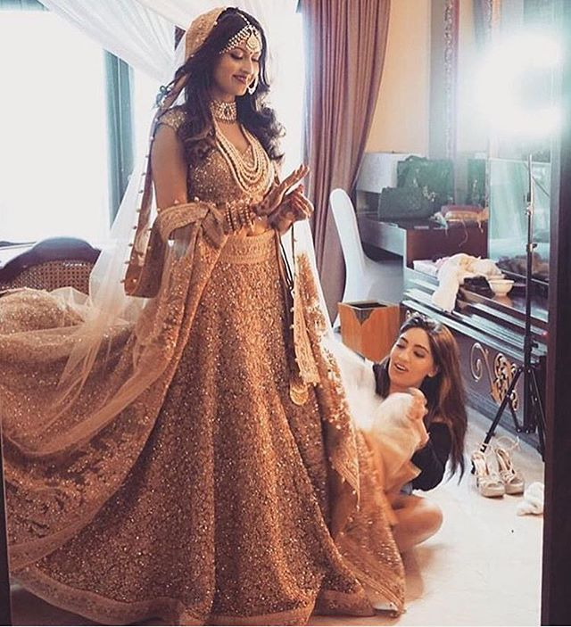 The smile on the bride as she gets her final touches before she sees her love! Makeup by: @natasha.moor . . . . . #wedding #weddingevents #weddingfashion #weddinginspiration #shaadisaga #instagood #weddingphotography #indianbride  #instadaily  #weddingphotography #lehenga #weddinglehenga #makeup