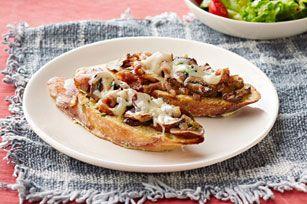 Champignons, bacon fumé et fromage crémeux