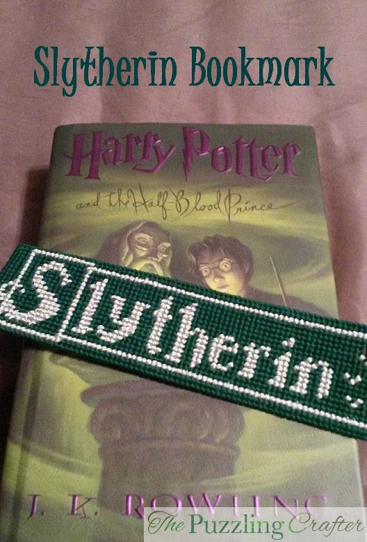 Plastic canvas bookmark, Harry Potter on The Puzzling Crafter blog