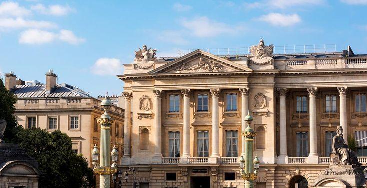 Réouverture de l'hôtel de Crillon, place de la Concorde