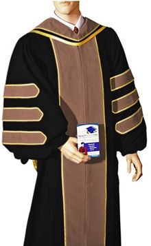 Quality Academic Doctoral Graduation Regalia for sale, such as doctoral robe, PhD gown, graduation hood, and tam
