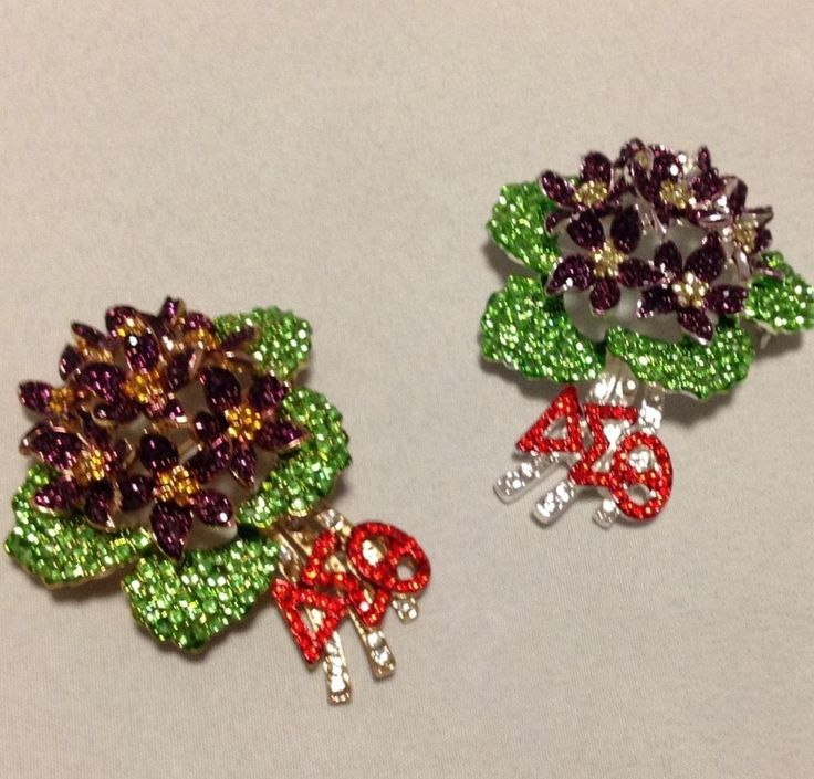 delta sigma theta african violet lapel limited edition