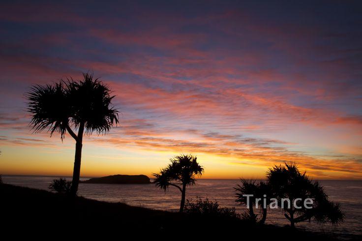 Sunrise at Fingal Head.