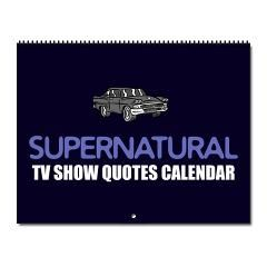 Supernatural TV Show Quotes calendar with some really funny lines from Sam and Dean Winchester. A great Christmas gift for a sci fi fan!