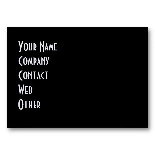 Blank Business Card Template | ... OWN - DESIGN YOUR OWN - BLANK BUSINESS CARD TEMPLATE from Zazzle.com