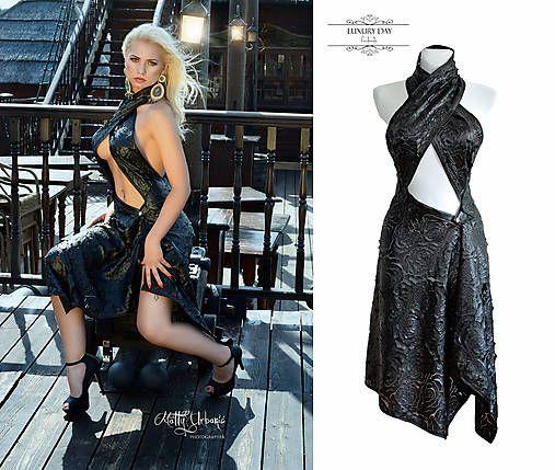 LUXURYday / šaty 3D koženka