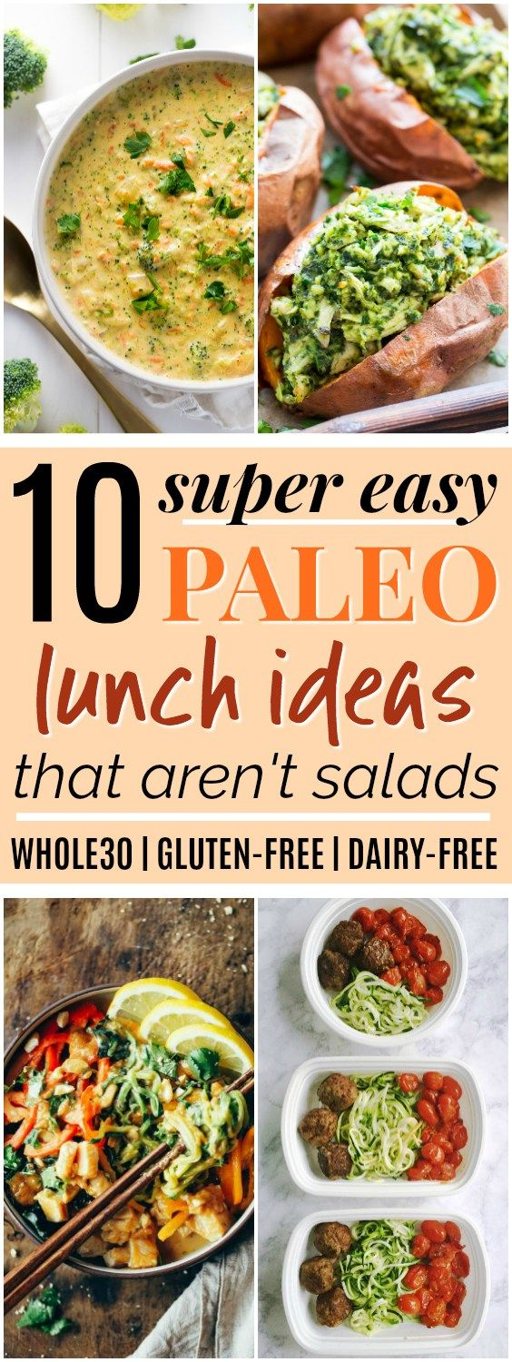 10 Easy Paleo & Whole30 Lunch Ideas that Aren't Salads