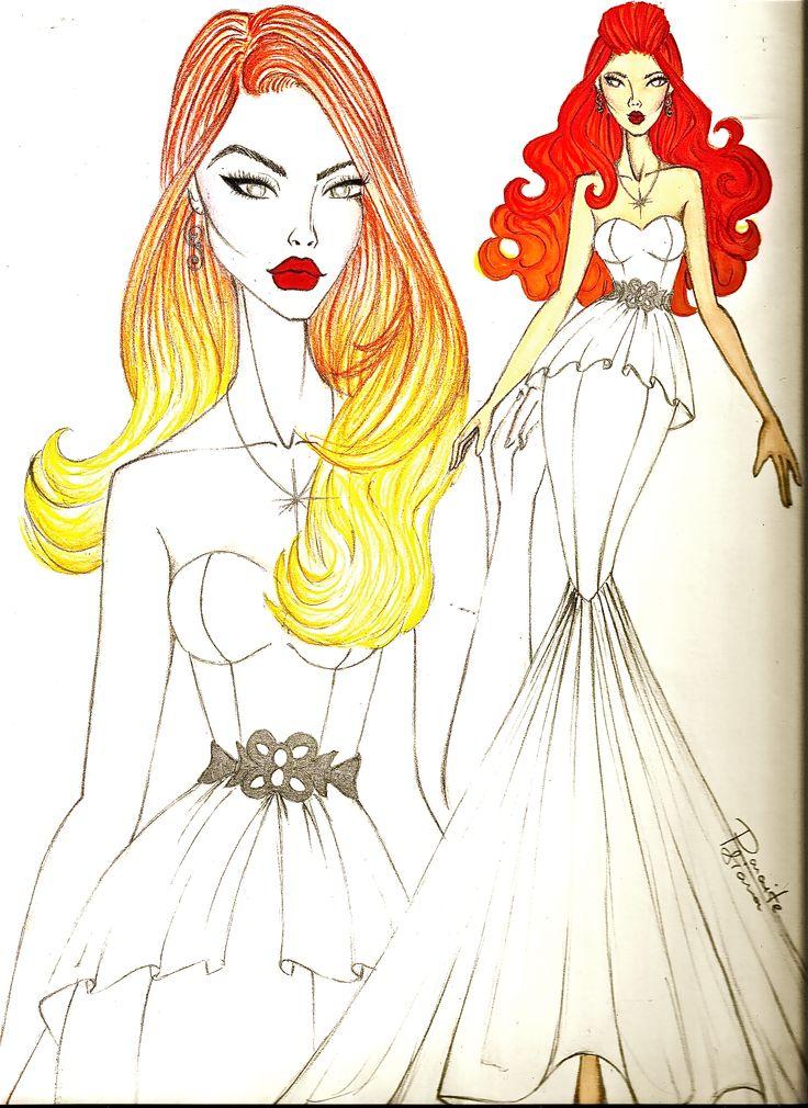 pimo abito da sposa senza trasparenze... #wedding dress #wedding #dresses #drow #disegno #illustrator