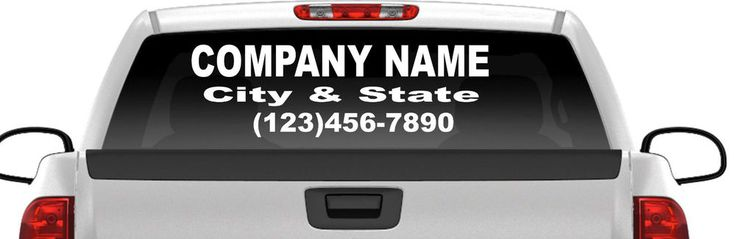 "Personalized Company Name Vehicle Rear Window Tailgate Decal/Sticker 12""x40"" #GeoRichDecals"