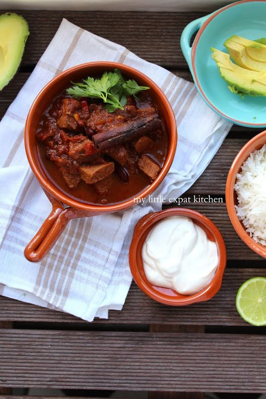 My Little Expat Kitchen in Greek: Chili con carne