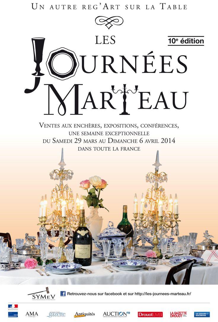 Les Journées Marteau des ventes aux enchères sur les arts de la table partout en France