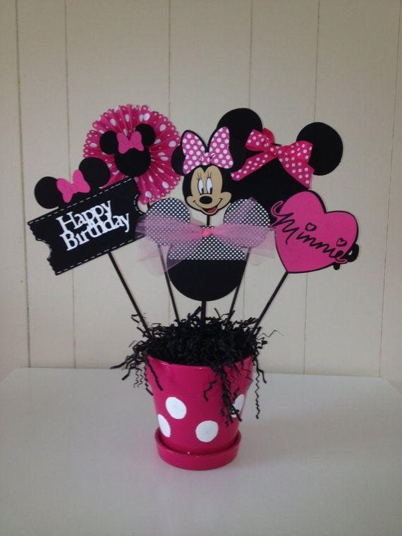 Minnie  Mouse Happy Birthday Centerpieces/ by MomentzandMemories, $3.00