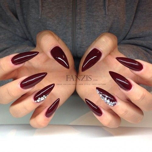 Merlot and bling stilettos #trythisnail