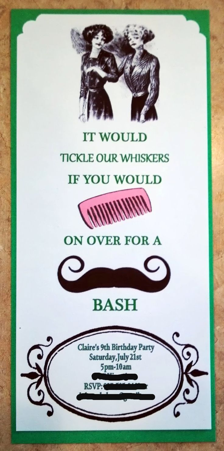 mustache party invitations mustache birthday party invitation birthday parties - Mustache Party Invitations