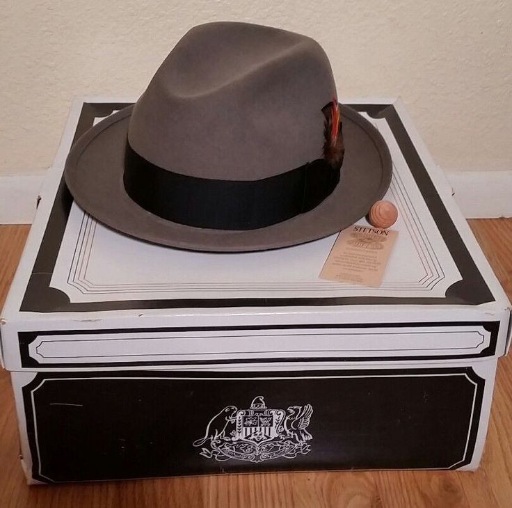 Vintage Stetson Royal Fedora Caribou 7 5/8Grey and Black Nolton EUC #Stetson #Fedora #Everyday