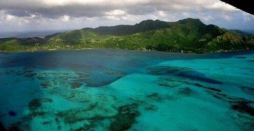 Vista aérea de la Isla de Providencia