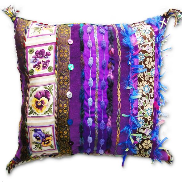 Exotic Velvet Cushion - Regal Purple
