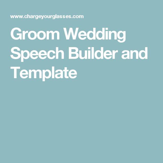 Groom Wedding Speech Builder And Template