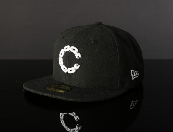 Chain C Black Polyester 59Fifty Fitted Baseball Cap by CROOKS & CASTLES x NEW ERA