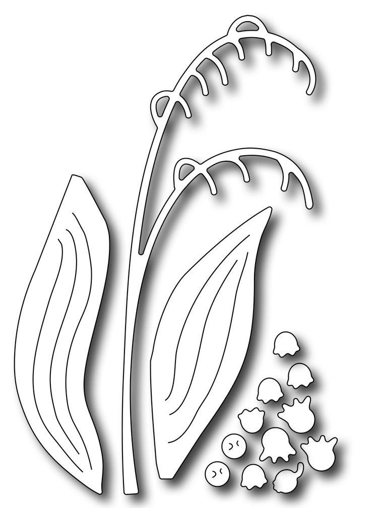 Frantic Stamper Precision Die - Lily of the Valley Flower Builder (set of 4 dies)
