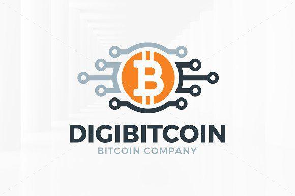 Digi Bitcoin Logo Template Bitcoin Logo Logo Templates Logos
