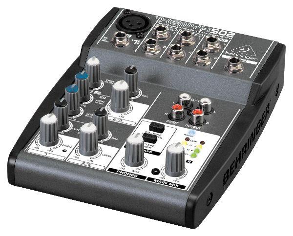 De uitstekende XENYX 502, de Behringer PA mixer met alles dat u nodig heeft voor een geweldig geluid.