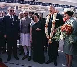 Kurt Georg Kiesinger (1904-1988) et son épouse en Inde