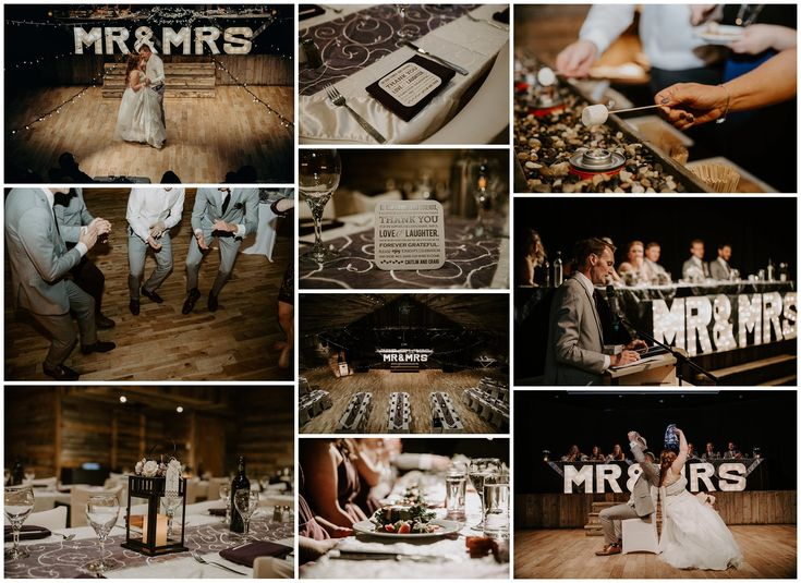 Rustic wedding reception. Mountain wedding. Cornerstone theater Canmore. Canmore wedding