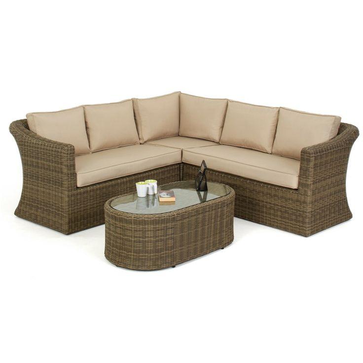 maze rattan winchester small deluxe corner sofa set