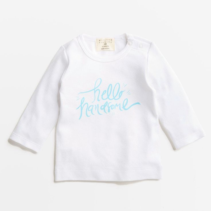 Willows Children's Boutique | Hello Handsome Top | By Wilson & Frenchy | Baby Boys Clothing | Online Baby Boutique