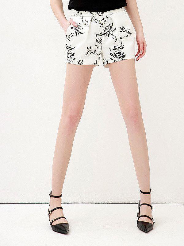 Fashion Printing Cotton Blends Short : KissChic.com