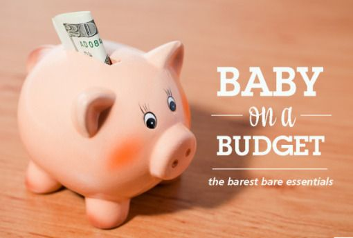 a good list of *actual* essentials - Baby on a Budget – The Barest Bare Essentials: From the blog Pregnant Chicken