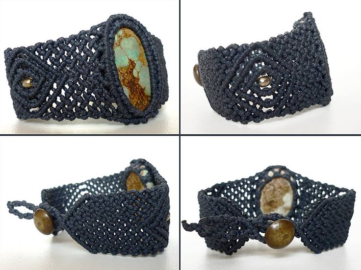 SANAM Persian Turquoise (Piroozeh) Macrame Bracelet