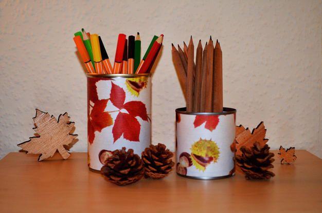 Autumn Pencil Holders – Herbstliche Stiftehalter