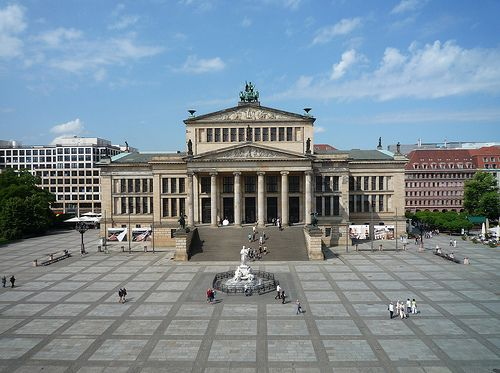 Schauspielhaus, Berlin, Germany. Architect: Karl Friedrich Schinkel. German Greek Revival.