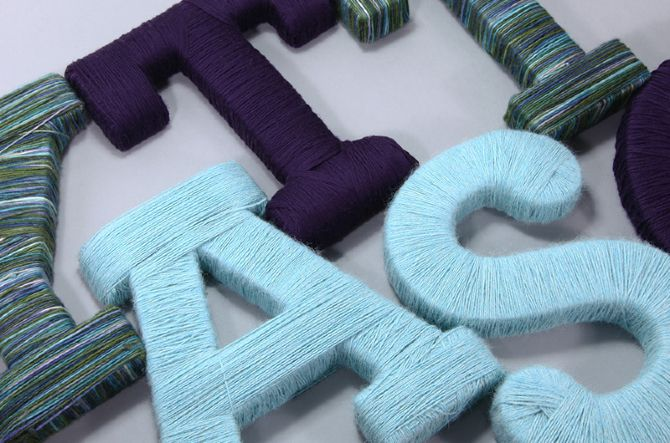 #diy #wool #lettering #decoration