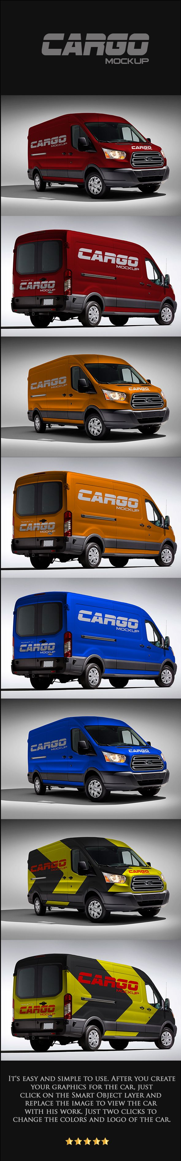 Free Mock-Up Van Cargo on Behance