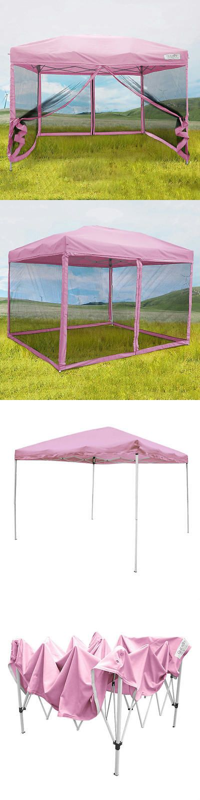 Awnings and Canopies 180992: Quictent 8X8 Pink Ez Pop Up Gazebo Party Tent Canopy Mesh Screen With Carry Bag -> BUY IT NOW ONLY: $99.99 on eBay!
