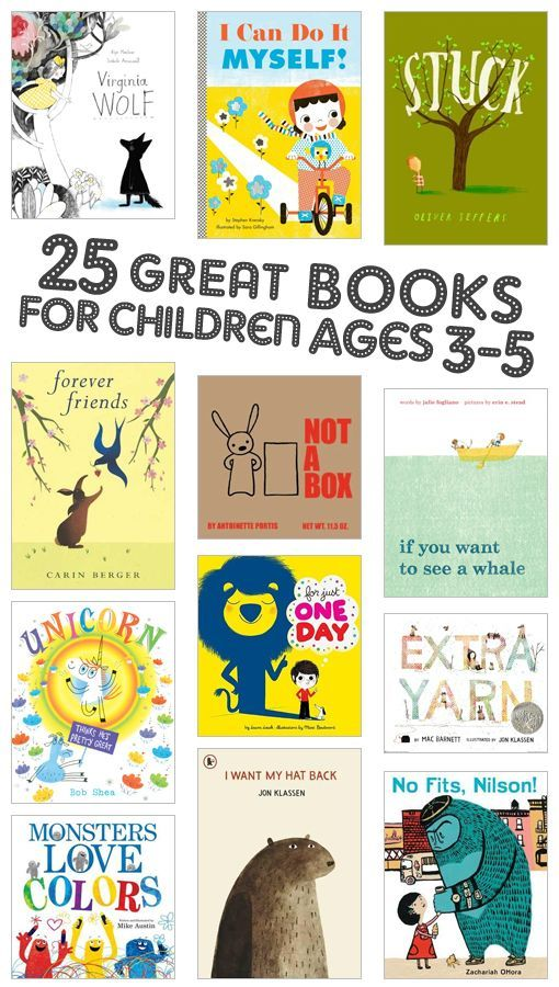 25 great books for kids ages 3-5