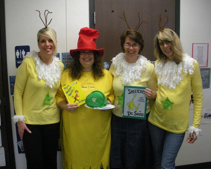 Sam I Am and three Star-bellied Sneetches (w/ removable stars).