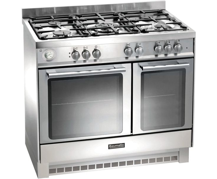 baumatic bcg925ss 90cm gas range cooker stainless steel