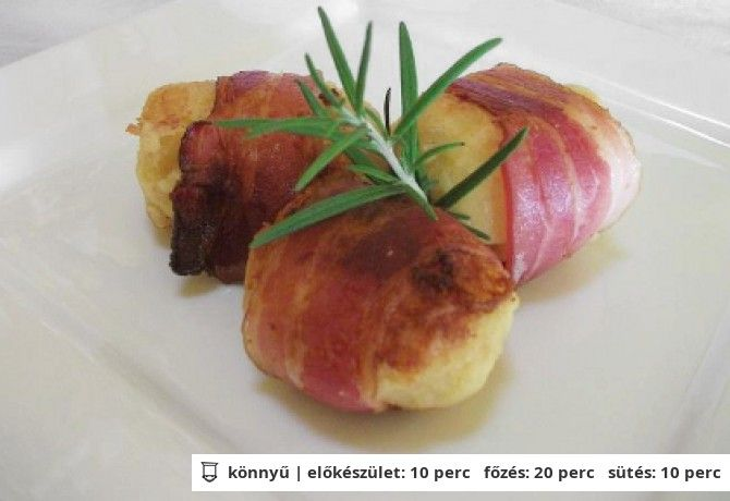 Baconbe csavart krumplipüré