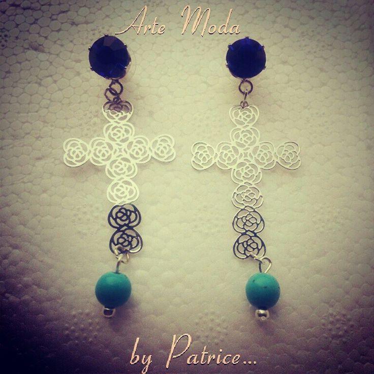 Modello Crocette...x info contattatemi;-)...#arte#moda#artemoda#creation#creazioni#cute#madeinitaly#designer#style#photo#jewelry#