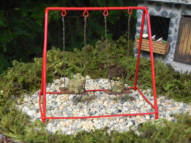 407 best fairy houses and other things images on pinterest for Mini swing set