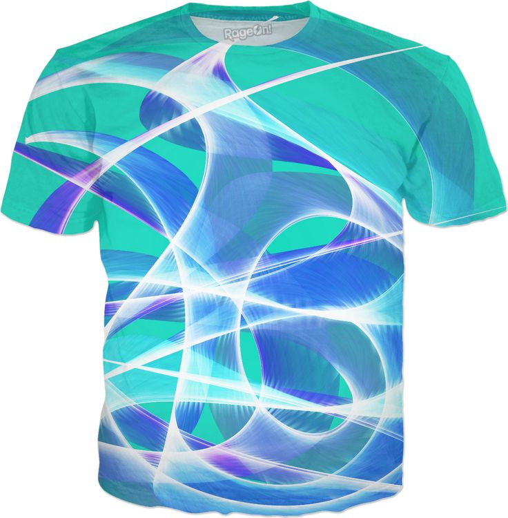 Waves Aqua T-Shirt by Terrella available at https://www.rageon.com/products/waves-aqua-1?aff=BSDc on RageOn!