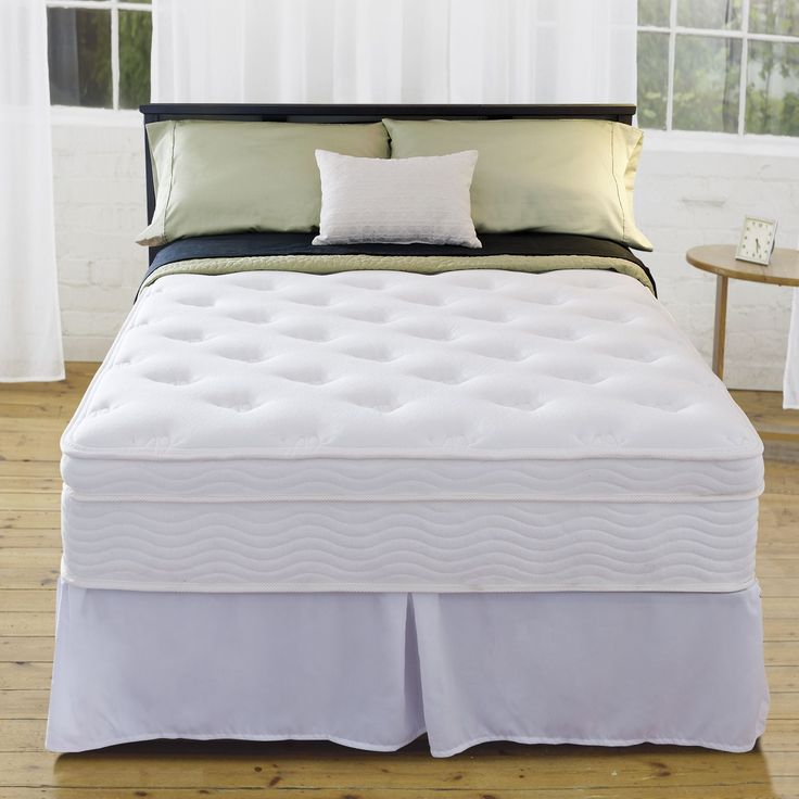 The Priage Euro box top full mattress set offers a complete sleeping solution. You'll love the comfort of this spring mattress system that controls motion transfer so you can get a great night's sleep.
