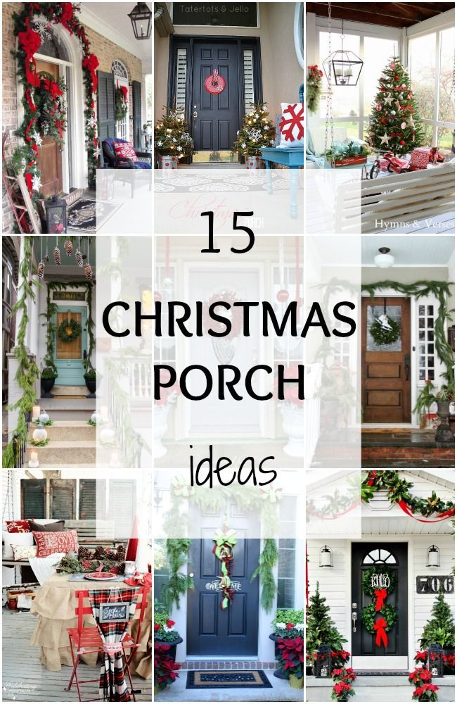 We've rounded up 15 of the BEST Christmas Porch ideas to get you ready for this holiday season! via www.ablissfulnest.com