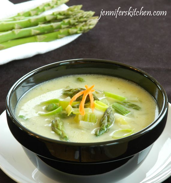 Cream of Asparagus and Leek Soup - Comfort Food that actually helps with weight loss!